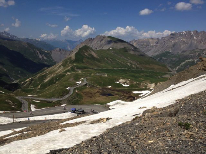 Approaching The top of the galibier