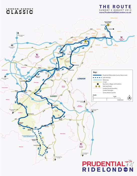 Image Result For Prudential Ride London Route