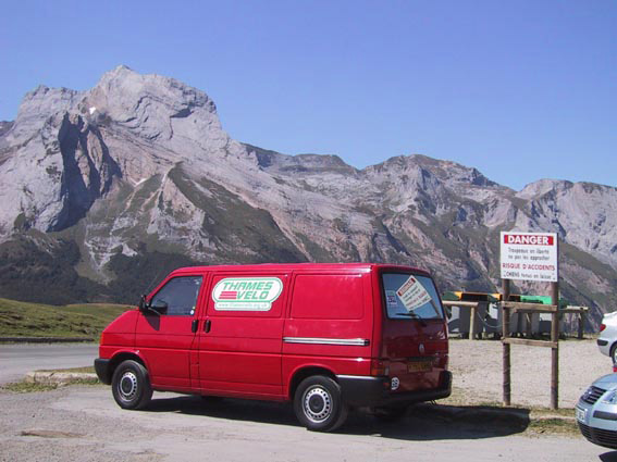 Thames Velo Van on Col D'Abisque