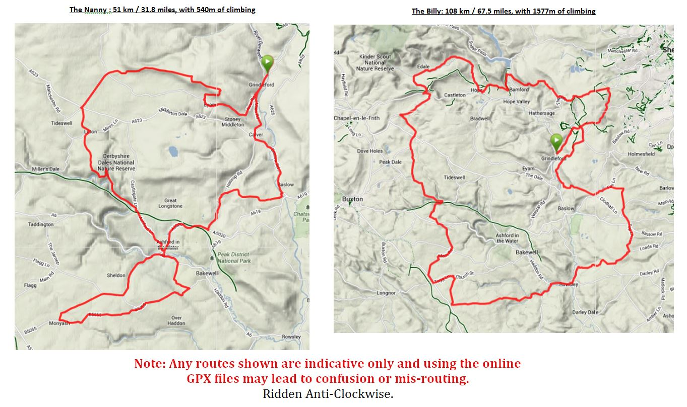 Grindleford Goat Route Maps
