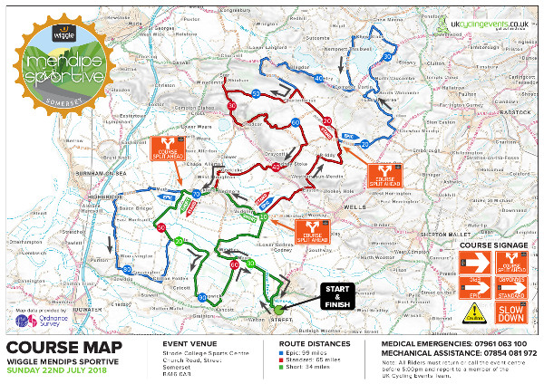 Wiggle Mendips Map